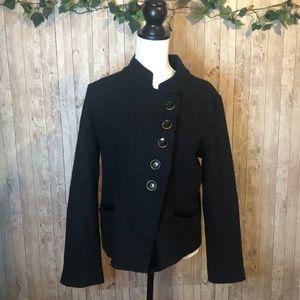 Anthropologie HWR Military Black Wool Jacket